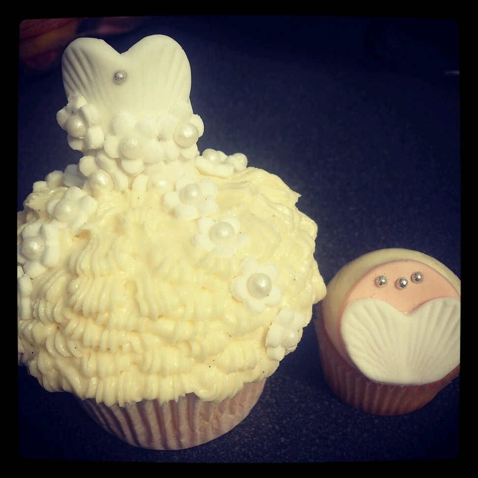 Wedding Dress Cupcake