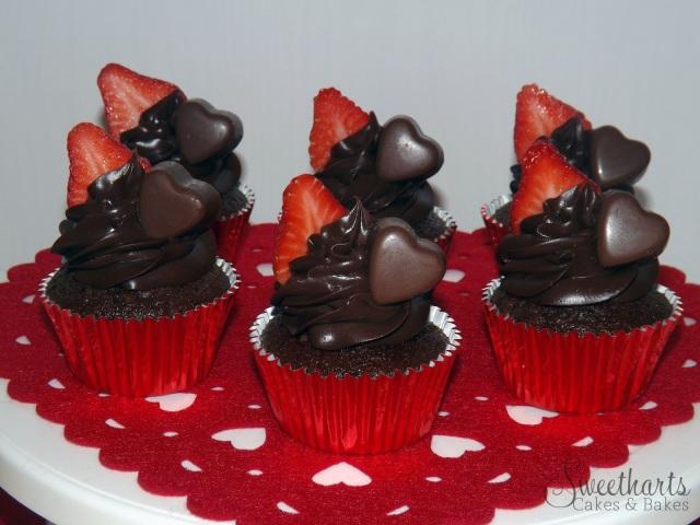 Valentines chocolate cupcakes