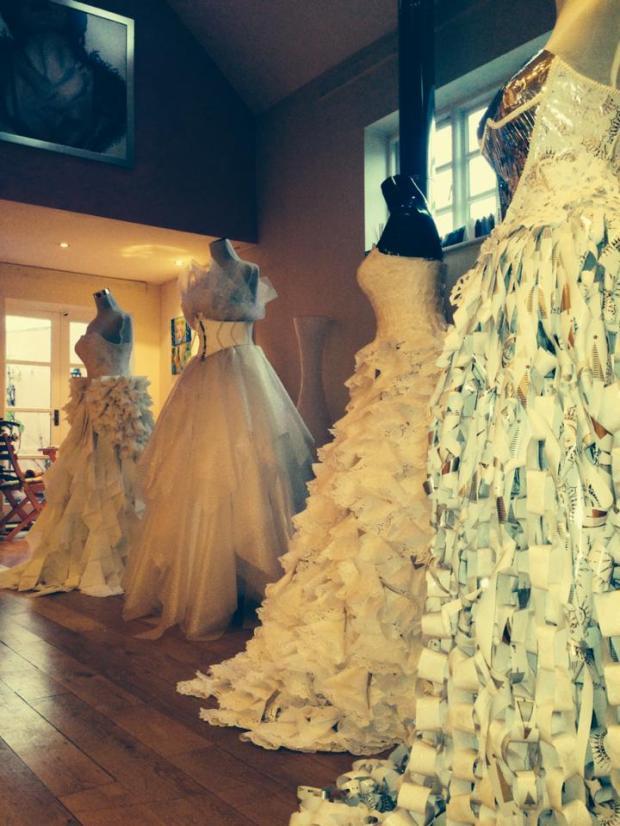 Junk couture wedding dresses by Dumpser Design