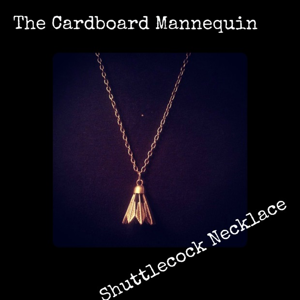 shuttlecock necklace