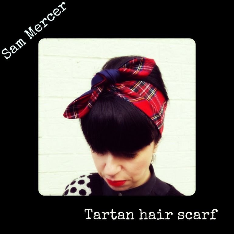 tartan hair scarf